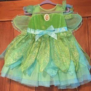 Girls Disney store Tinker Bell costume size 2T